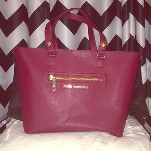 Portwine Juicy Tote leather